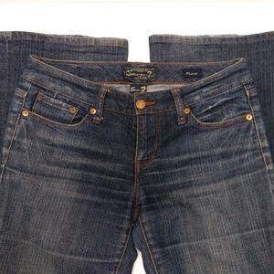 Seven7 Flare Jeans Medium Rinse Size 28